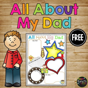 All About My Dad, Father's Day Gift, Writing, Poster