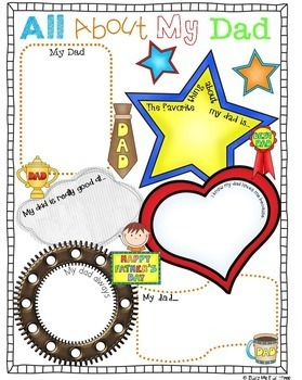 Father's Day Activity, Gift for Dads, Writing, Poster