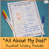 All About My Dad! Printable