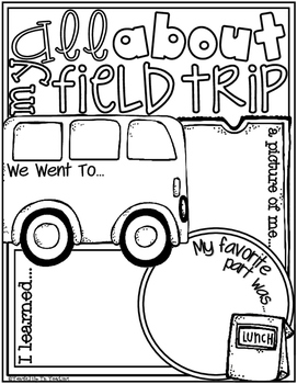 All About My FIELD TRIP Poster Activity (Fill In Poster for the End of the Year)