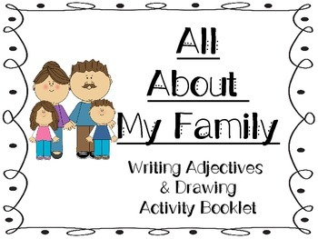 All About My Family Activity Booklet - Back to Schoo activity