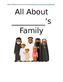 All About My Family Book