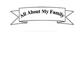 All About My Family Book Template