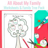 All About My Family Unit - Worksheets & Family Tree Pack