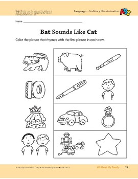All About My Family: Language and Math Activities