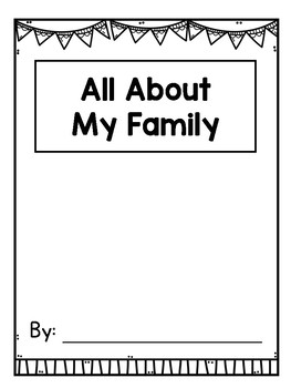 all about my family writing book template for k 2 free tpt