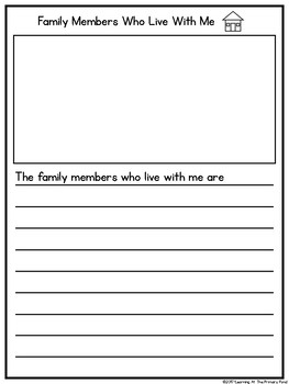 All about my family writing book template for k 2 free for Template for writing a will