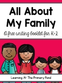 All About My Family Writing Book Template for K-2 {FREE!}