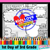 First Day of School: reflection activity for 3rd grade
