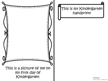 All About My First Week of Kindergarten Booklet