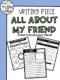All About My Friend - Writing Piece