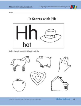 All About My Friends: Language and Math Activities
