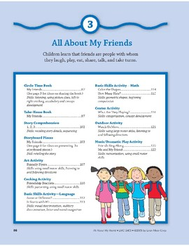 All About My Friends: Outdoor & Dramatic Play Activities
