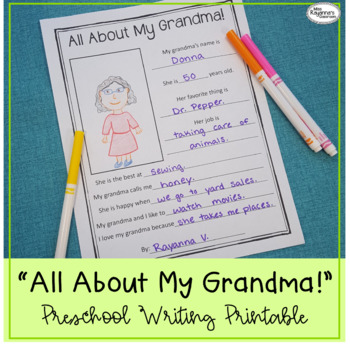 photo relating to All About My Grandma Printable identify All Above My Grandma! Printable