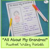 All About My Grandma! Printable