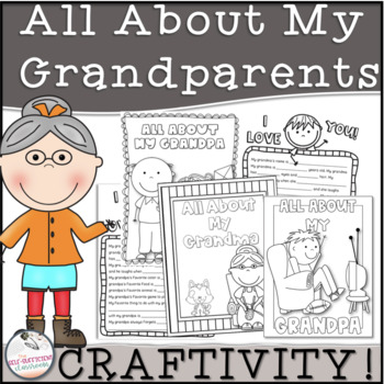 All About My Grandma and/or Grandpa K-2nd Grade Activity
