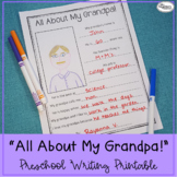 All About My Grandpa! Printable