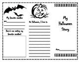All About My Halloween Trifold