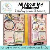Holiday Recount Writing - All About My Holidays!