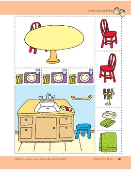 All About My Home: Center Activity