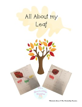 All About My Leaf Science/Writing Mini Activity
