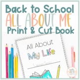 All About My Life Book, Back to School Activity, Get to Know You, 4th-12th Grade