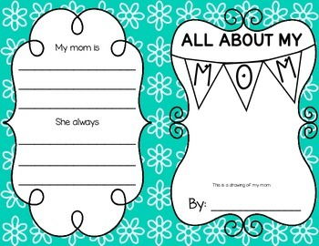 All About My Mom {A Student Created Mini-Book}