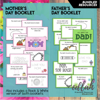 All About My Mom All About My Dad Bundle By Melissa Schaper Tpt