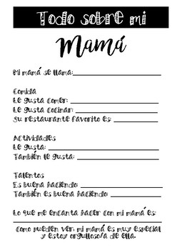 All About My Mom (Bilingual)