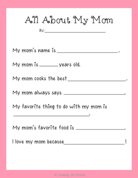 Eloquent image regarding all about my mom printable