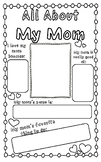 All About My Mom Mother's day Poster