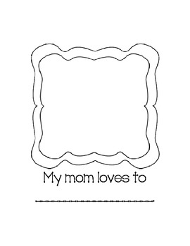 All About My Mom - Mother's Day Book