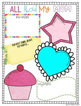 Mother's Day Gift, Writing, Poster - All About My Mom