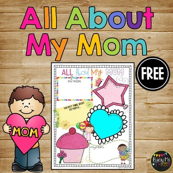 All About My Mom, Mother's Day Gift, Writing, Poster
