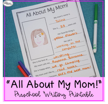 All About My Mom! Printable