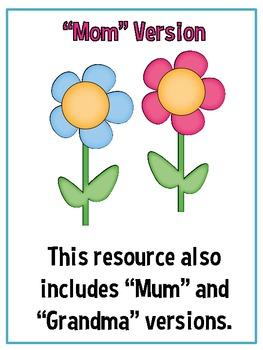 All About My Mom/Mum/Grandma {A Book-tivity}