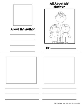 All About My Mother Mini Books Template - with Vocabulary Cards - Mother's Day