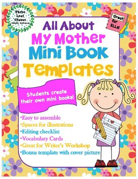 All About My Mother Mini Books Template - with Vocabulary
