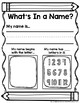 All About My Name Practice Set