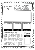 All About My Name Worksheet
