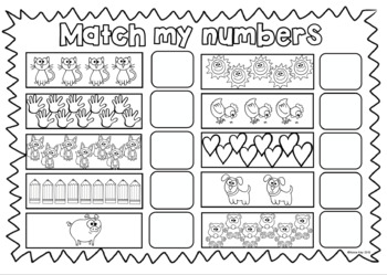 All About My Numbers 0-10! Counting, number lines, tens frames and dice work!