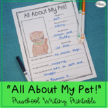 All About My Pet! Printable
