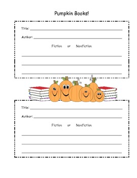 All About My Pumpkin Book