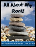 """""""All About My Rock"""" Graphic Organizer/Research Paper"""