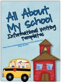 All About My School Informational Personal Expertise Writing Templates