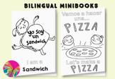 La comida: Una Pizza y Un Sándwhich {Bilingual mini-books}