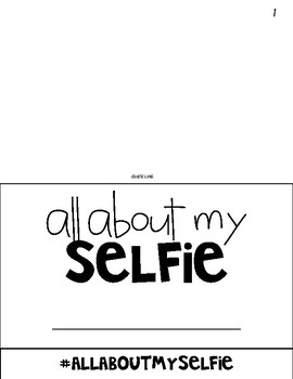"All About My ""Selfie"" FlipBook"
