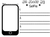 All About My Selfie-Writing Activity