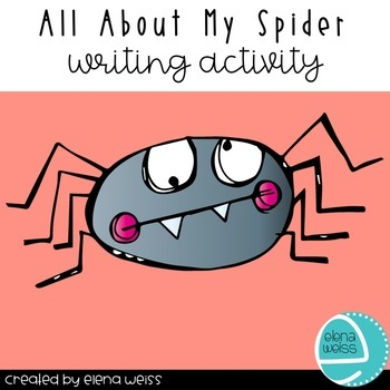 All About My Spider Writing Activity