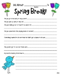 All About My Spring Break (4 Page Packet)